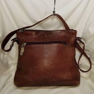 B8,253 Tignanello Shoulder Bag Burgundy Leather